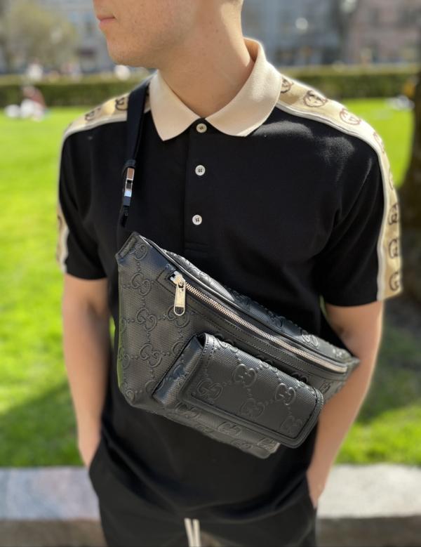 Gucci Embossed Belt Bag