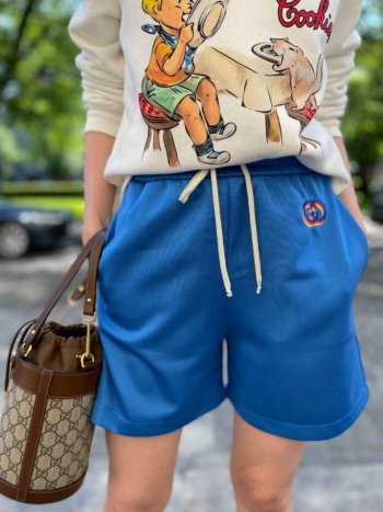Gucci GG embroidered track shorts